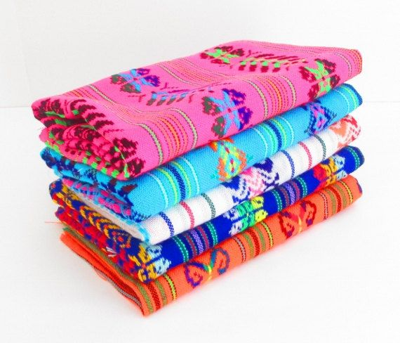 aztec fabric mexican fabric bundle tribal fabric by half yardfiesta decoration latin american wedding decor embroidered fabric