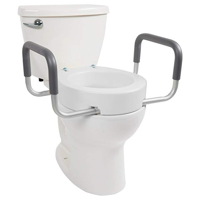 Vive Toilet Seat Riser With Handles Raised Toilet Seat With