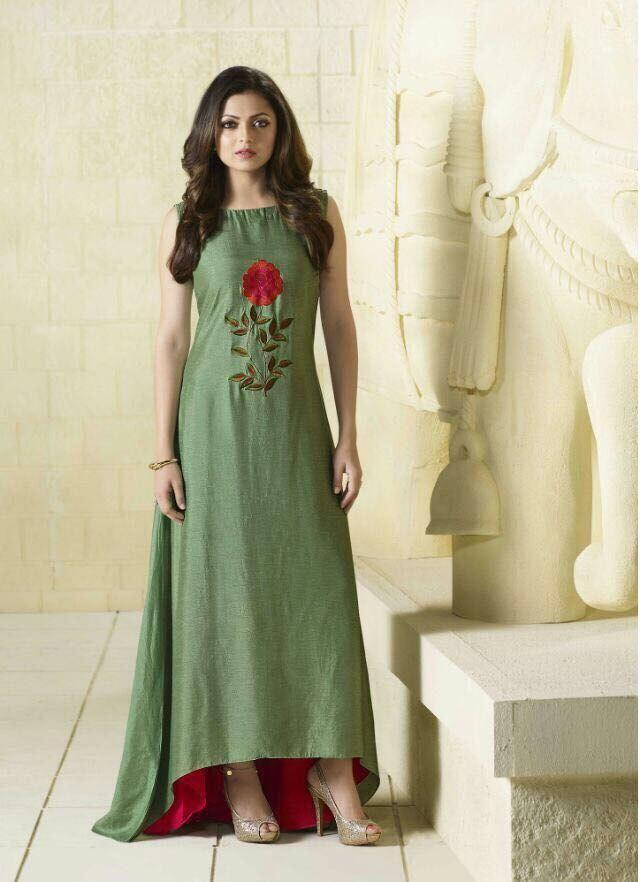 Green color kurti-L #fashion #treandyfashion #style #trends #womenfashion #lovefashion