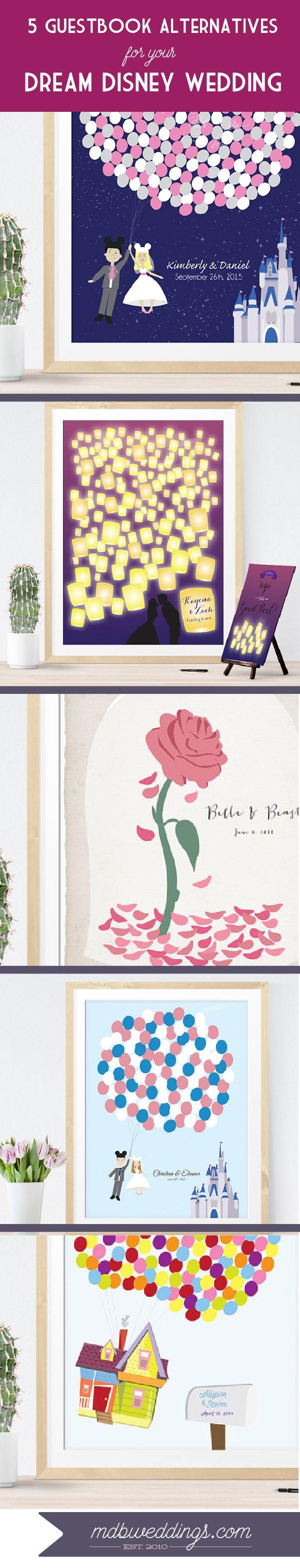 5 Guest Book Alternatives for your dream #disneywedding So Cute!!! Perfect #reception decor!