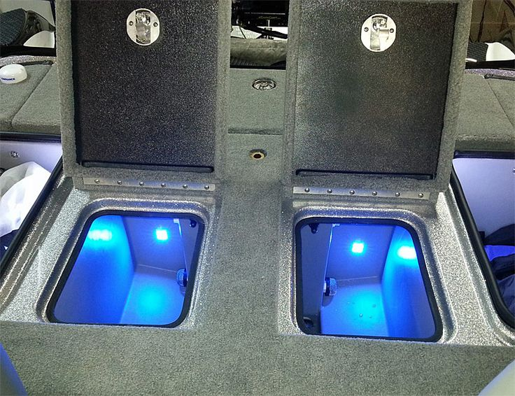 Quad Beam Livewell / Cooler LED Light Pair   Submersible | Boat LED Live  Well Lighting