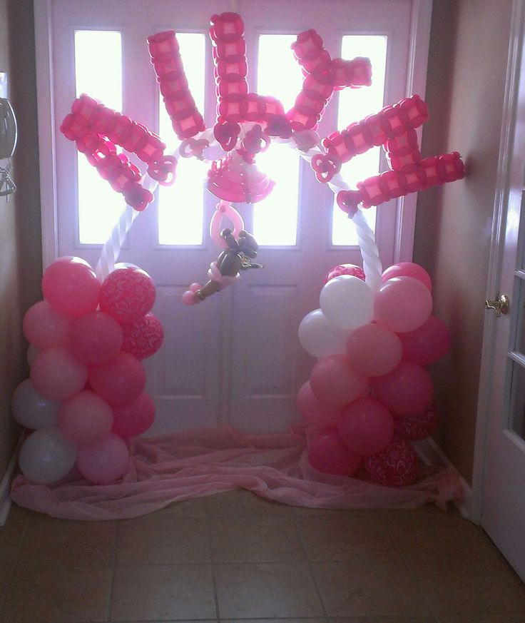 Awe Inspiring 17 Best Images About Balloon Baby Shower Parties Decorations On Hairstyle Inspiration Daily Dogsangcom