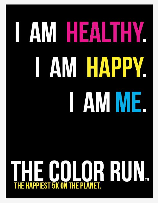 I am me. The Color Run.: The Colors Running, Cant Wait, Buckets Lists, Pin Today, Workout Motivation, The Color Run, Health, Random Pin, Thecolorrun
