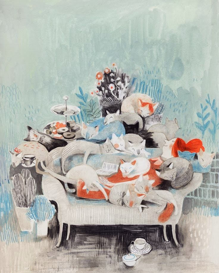 Animalarium: Ladies and Cats blog entry for anyone who loves cats and ladies and art. http://theanimalarium.blogspot.com/2014/02/ladies-and-cats.html     Shown: http://www.isabellearsenault.com/