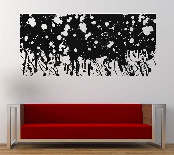 Best Abstract Unique Wall Stickers Decals Images On Pinterest - Make custom vinyl wall decalsvinyl wall decal sticker paint dripping s wall decals attic