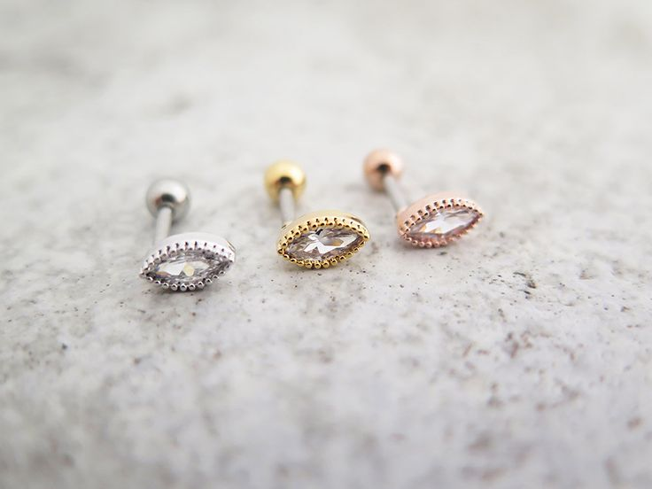 CZ stud Piercing/Tragus Earring/Cartilage earring/Piercing/Earrings/Tragus stud/CZ piercing / Labret bar optional/CZ stud erring/Conch/Helix by MinimalBijoux on Etsy