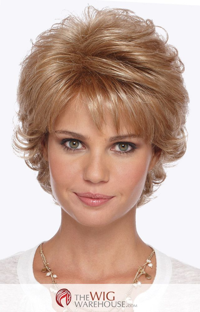 The Mandy by Estetica Designs is a sassy and chic wig that offers plenty of style for the trendy gal on the go. The many layers of this cut provide depth and plenty of volume, while the flip at the ba
