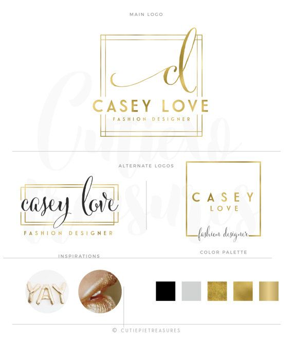 Golden Logo Design Custom Logo Design Gold by CutiexoTreasures