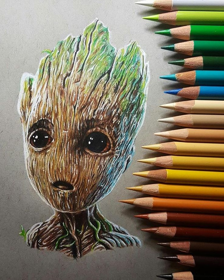 "1,267 Likes, 30 Comments - Rob Silva (@retrograde_hand_grenade) on Instagram: ""I AM GROOT, WE ARE GROOT. REBIRTH. Here's my baby Groot to bring in the new year, I love him hope…"""