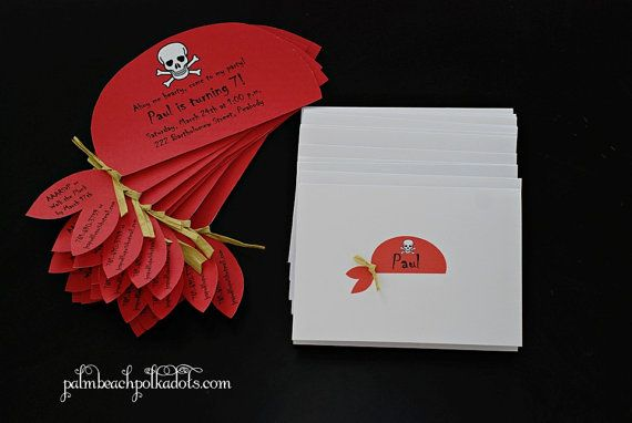 Pirate Birthday  Party Invitation by palmbeachpolkadots on Etsy, $2.00