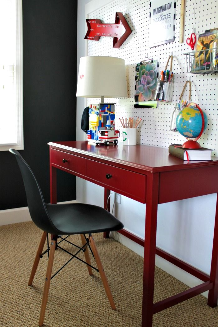 Our Fifth House: boy's desk area