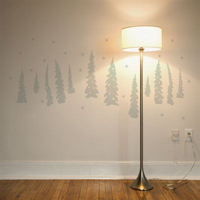 ADzif NL101-R Christmas 2013 Trees Under the Snow Wall Decal
