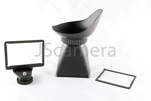 2in1 LCD viewfinder 3:2aspect ratio Canon 550d stick-on 600d 60d baseplate mount