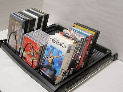 Cd Dvd Vhs Blu Ray Multimedia Storage Extra Large 3 Row Pull