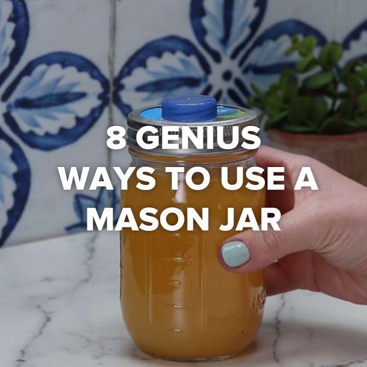 8 Genius Ways To Use A Mason Jar #DIY #creative #masonjar #hack