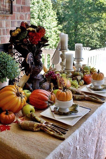 75 idées pour la décoration de table d'automne pour un repas convivial | Décoration de table ...