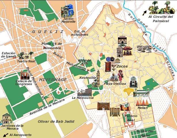 Fotos Y Plano Marrakech Que Ver Visitar En Marrakech