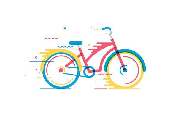 I love these illustrations | Bicicletas by Daniel González, via Behance