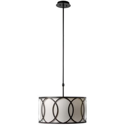 For dining room and stairwell : Hampton Bay - Davenport 3-Light 18 in. Oil Rubbed Bronze Metal Overlay Drum Pendant - CES4764OB4-A - Home Depot Canada