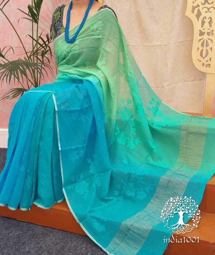 Elegant Chiffon Saree with Embroidery