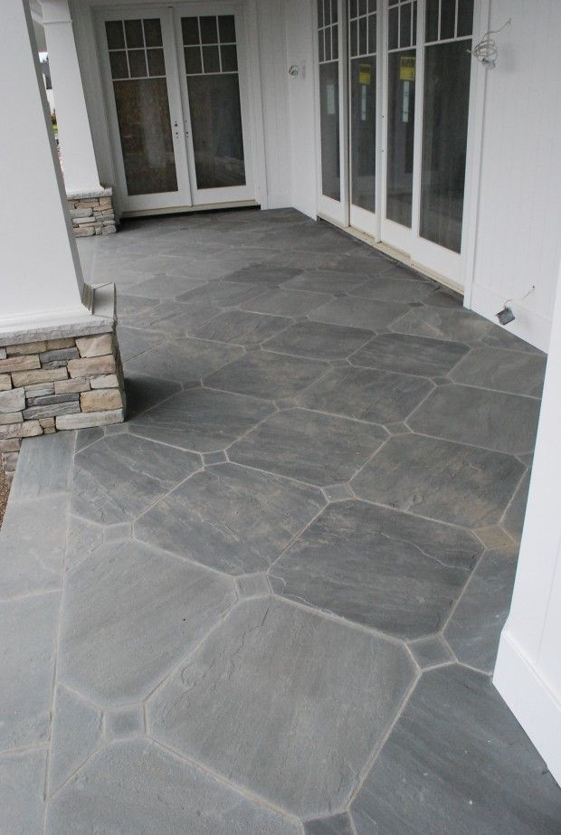 gorgeous! bluestone inlay. Covered porch? Can do on decking on only on ground?
