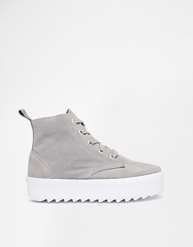 Image 2 of Shellys London Murci Kid Suede Platform High Top Sneakers