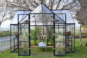 Chalet Greenhouse Kit modern-greenhouses