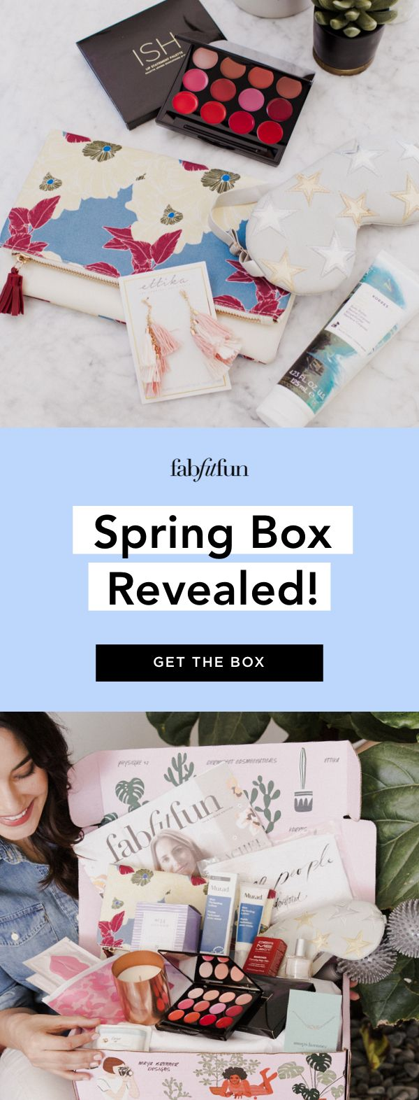 Get the FabFitFun Spring Box today! Use code BRIGHT to get $10 off your 1st box.  This is the best way to discover your new favorite beauty, fashion & wellness products affordably and conveniently!