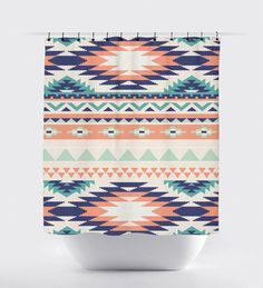 Hey, I found this really awesome Etsy listing at https://www.etsy.com/listing/234895099/coral-and-turquoise-aztec-fabric-shower