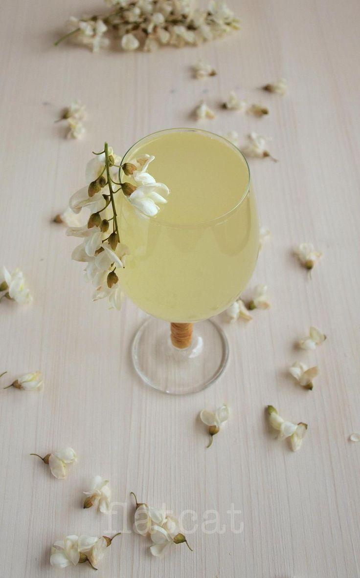 Mézes akácvirágszörp (frissen fogyasztandó, próbának)