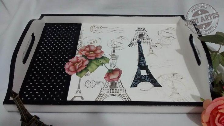 Bandeja Paris. www.elo7.com.br/jupiartes