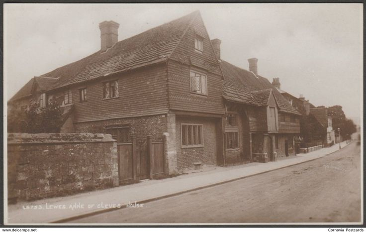 Anne of Cleves House, Lewes, Sussex, c.1910s - Photochrom RP Postcard