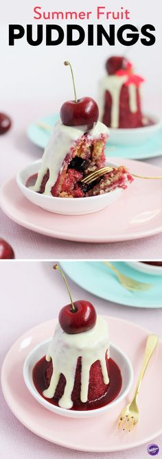 Summer Fruit Puddings Recipe - A British Summertime desert classic, you always forget how delicious a summer fruit pudding is! This dessert is full on impact but low on effort and would make a great talking point at a party. Use any berries that take your fancy. For a nice twist you could just use one variety. Serve with ice cream for a really indulgent treat.