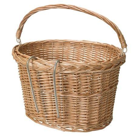 Klassisk korg med bärhandtag. Tillverkad av pil, korghållare av stål. | Prylar för friluftslivet, båten, cykeln och träningen hittar du hos Jula!