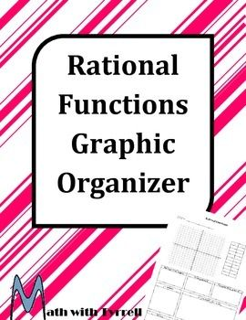 Are you teaching rational functions? Save yourself some time with these rational function graphic organizer. Great for an interactive notebook! Algebra 2, College Algebra, Precalculus