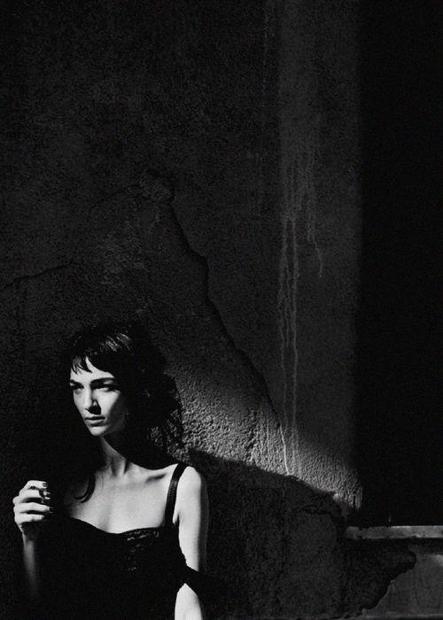 Mariacarla Boscono by Peter Lindbergh for Vogue Italia