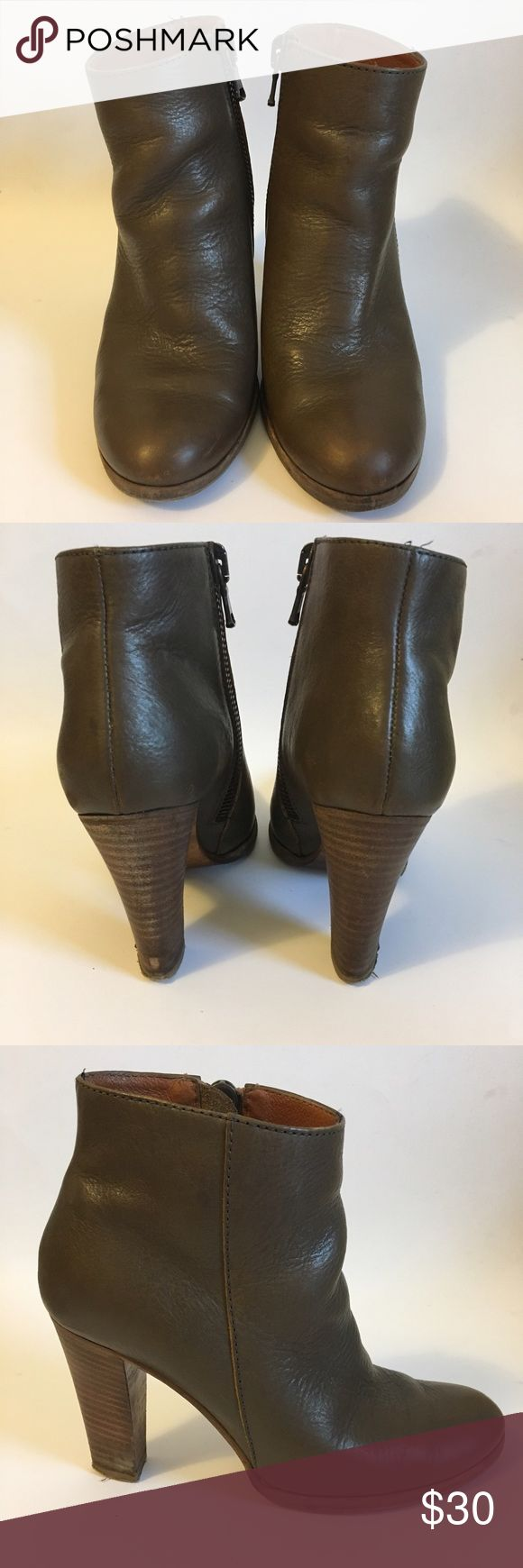Madewell Slouchy Pebbled Leather Heeled Booties Women's US 7. Lightly worn. Madewell Shoes Ankle Boots & Booties