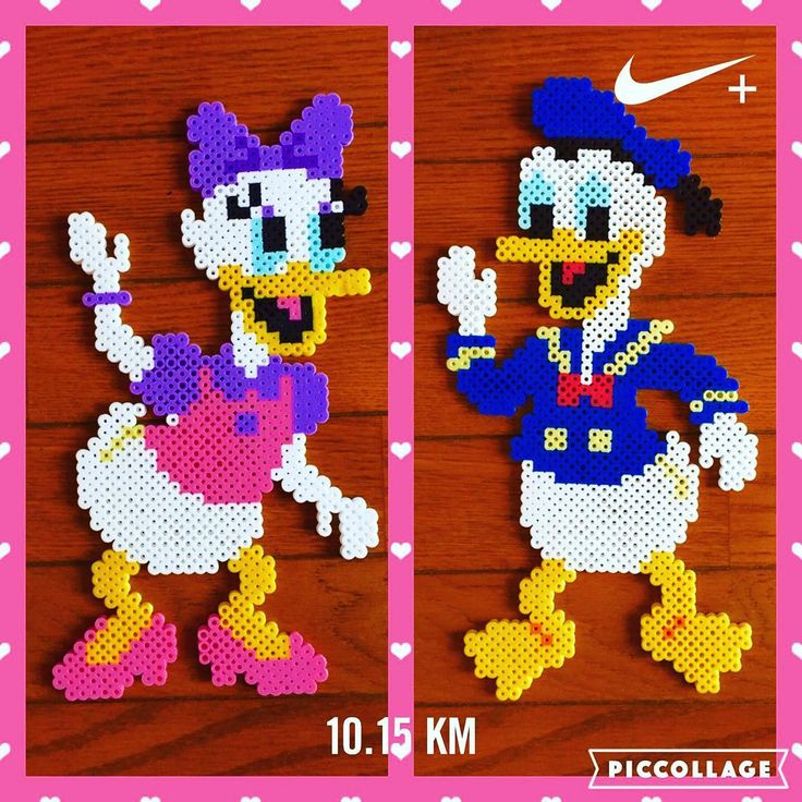 Daisy and Donald Duck perler beads yo_si516