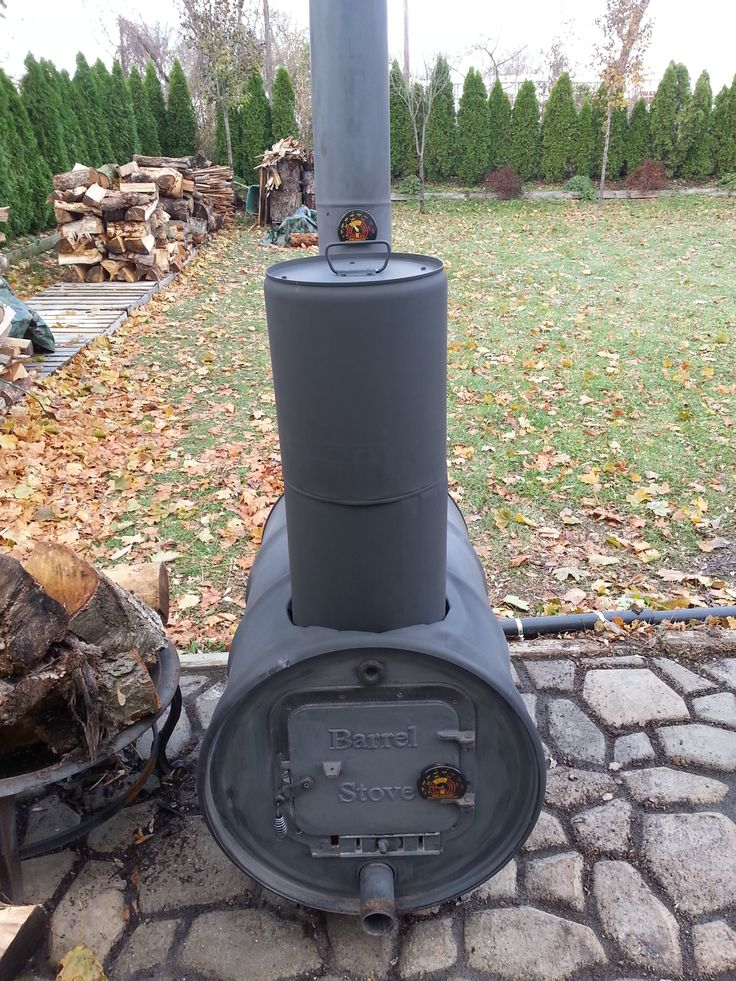 Barrel Stove, 55 gallon drum, stove kit, barrel stove kit, outdoor furnace - 55 Gallon Drum Fireplace Heather Bates Design