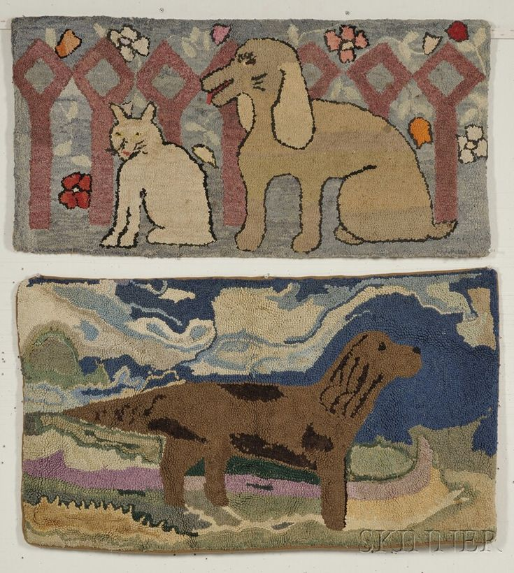 Dog Hooked Rugs: 17 Best Images About Antique Hooked Rugs On Pinterest