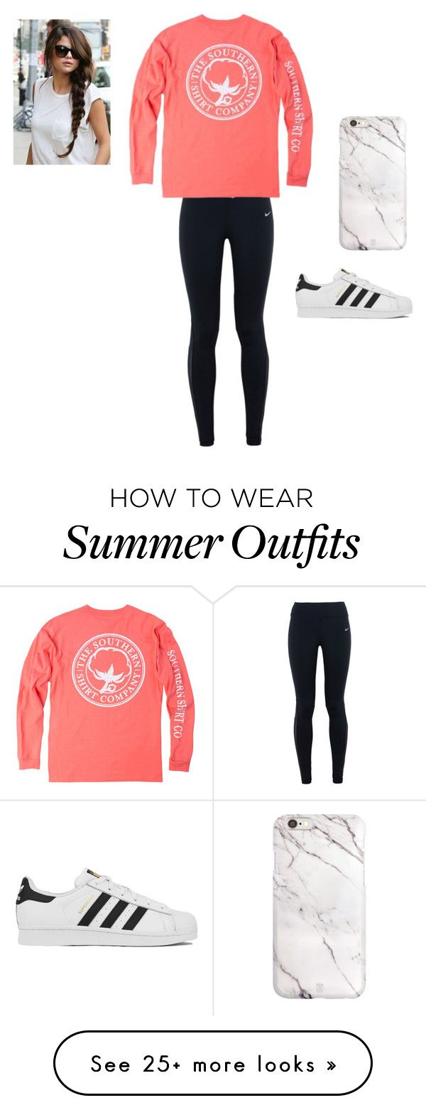 """""""A little sporty/lazy day outfit!"""" by danielmr on Polyvore featuring NIKE, adidas, women's clothing, women's fashion, women, female, woman, misses and juniors"""