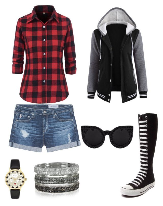 Sin título #4 by sil-mena on Polyvore featuring polyvore, fashion, style, AG Adriano Goldschmied, Converse, Bernard Delettrez, Kate Spade, Delalle and clothing