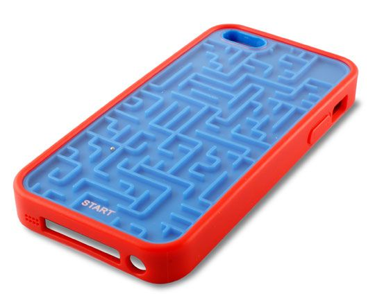 Carcasa Ksix para iPhone 5 Game azul y rojo
