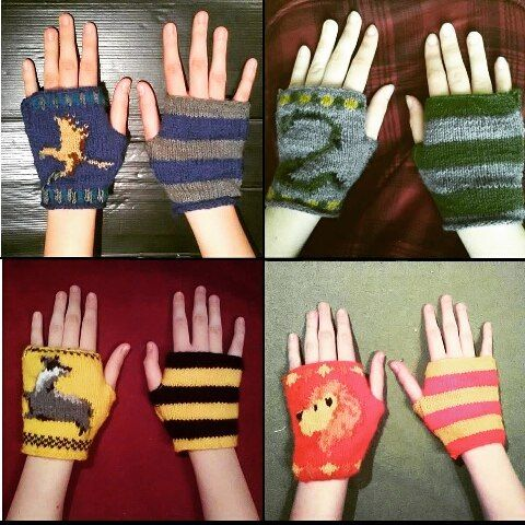 #throwback #harrypotter #harrypotterfanart #hp #hpfanart #hogwarts #hogwart #gryffindor #ravenclaw #hufflepuff #slytherin #knitting #knittingseason #mittens #gloves #nerd #geek #bookworm #bookstagram #books #handmade #rowling #etsy etsy.com/shop/byyagna