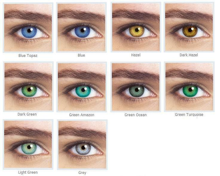 Anual Contact lens Colors Bausch & Lomb....