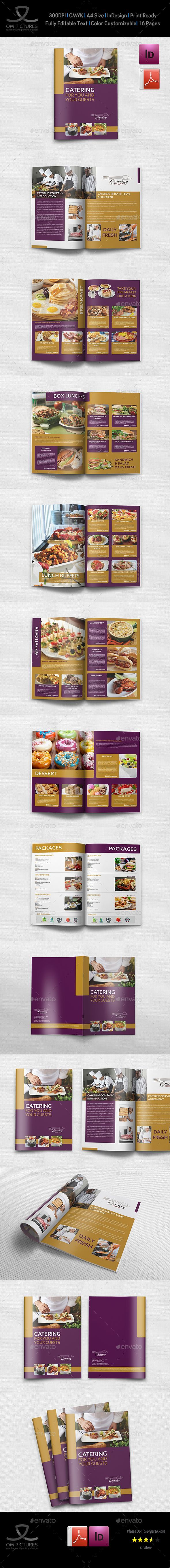 Food infographic  Catering Brochure Template  16 Pages   InDesign Template #minimalistic