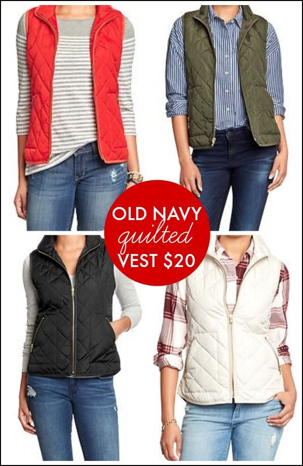 Old Navy quilted vest  love these jcrew dupes! have several colors!