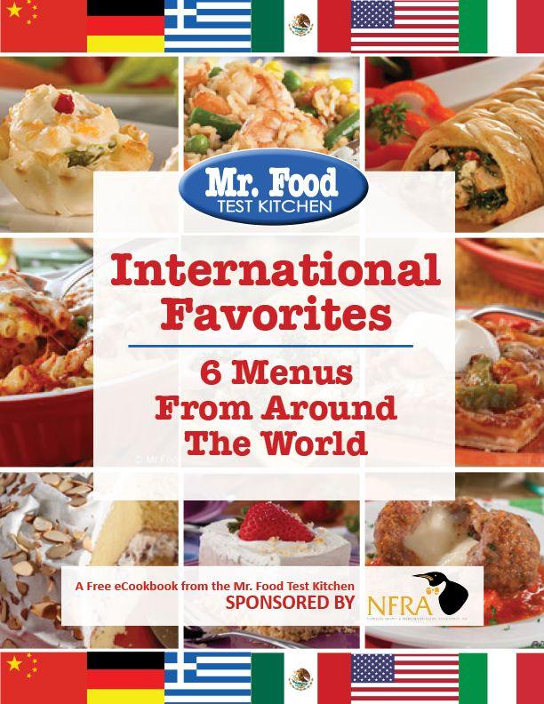 55 best free ecookbooks images on pinterest cooking recipes mr international favorites 6 menus from around the world mr food recipeskitchen forumfinder Choice Image