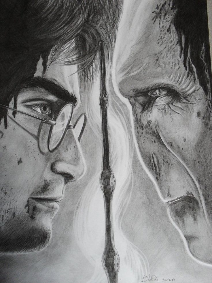 Harry Potter and the Deathly Hallows drawing