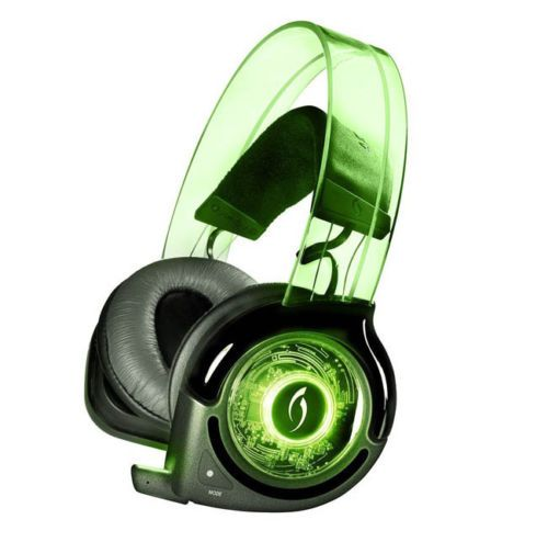 PDP Afterglow Wireless Headset Universal Headset for PS3 Wii XBox 360 - GREEN